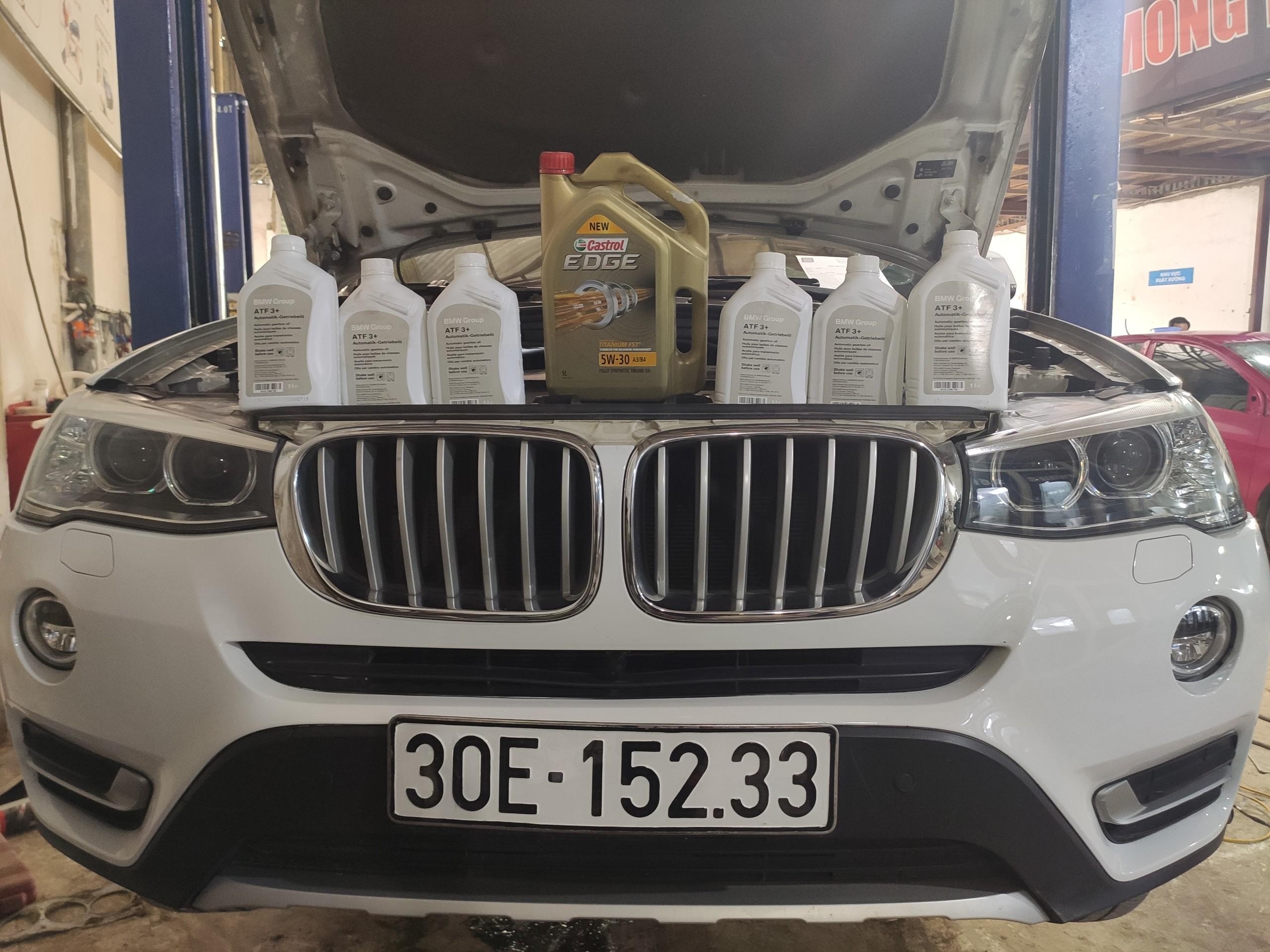 Hình ảnh thay dầu động cơ và thay dầu hộp số tự động xe BMW X3