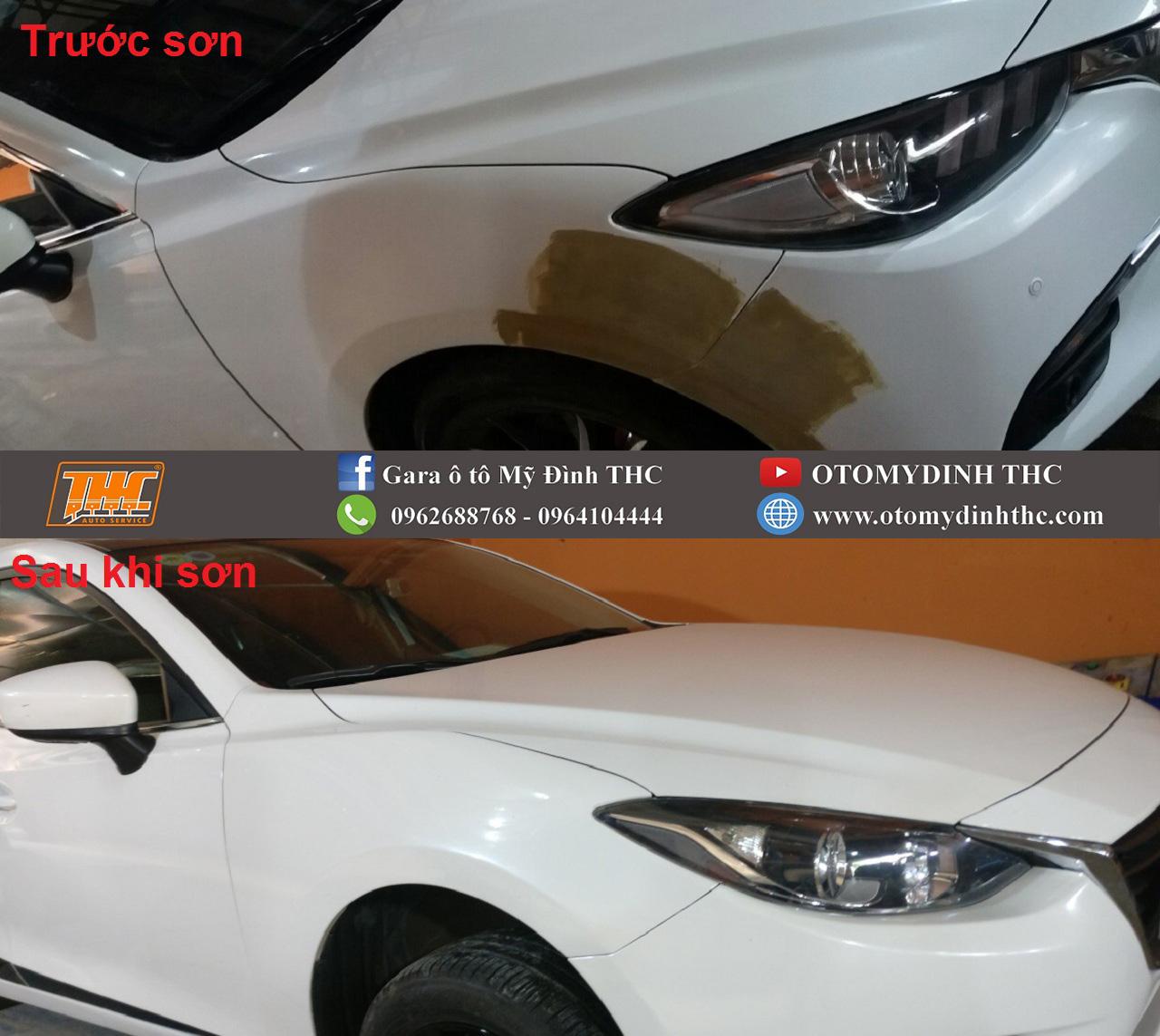 Chi phí sơn xe ô tô Mazda 3