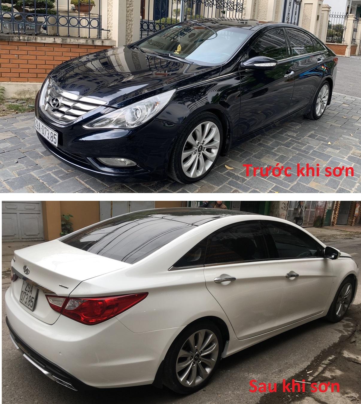 Sơn đổi màu Hyundai Sonata