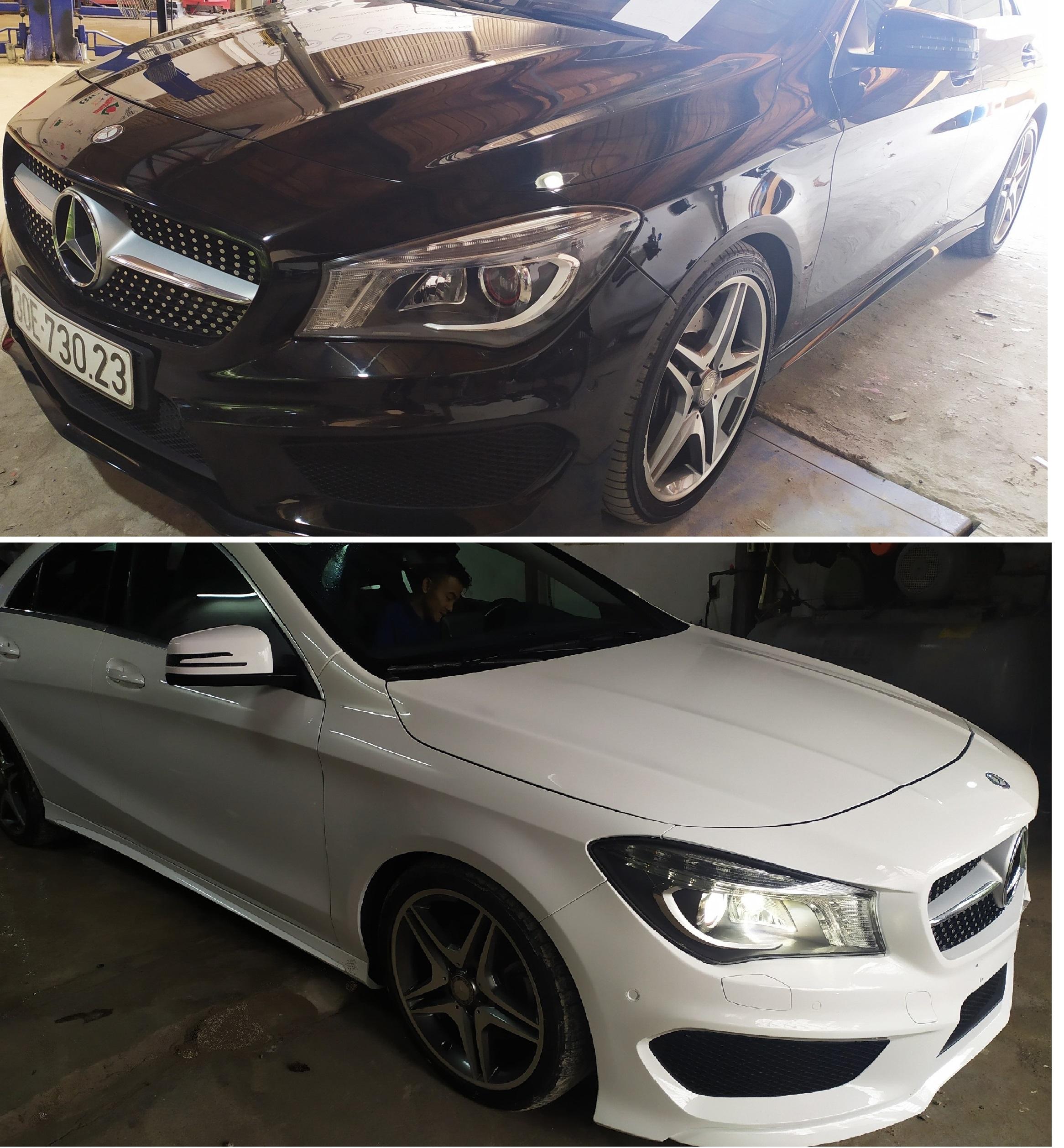 Sơn đổi màu Mercedes CLA250