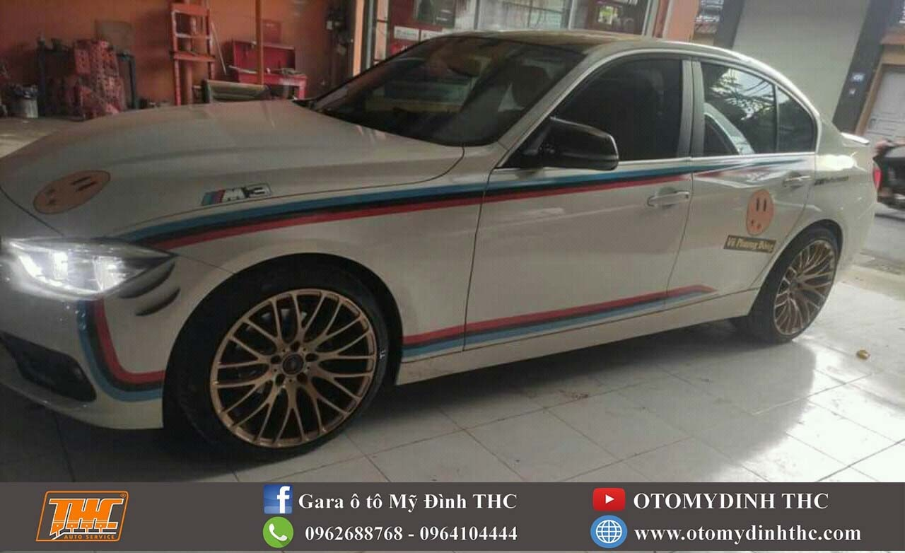 oto-BMW-320i-sau-khi-son-lazang-mau-vang-dong