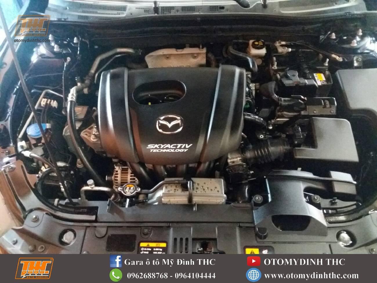 Vệ sinh khoang máy xe Mazda 3 tại Trung Tâm Kỹ Thuật Ô Tô Mỹ Đình THC