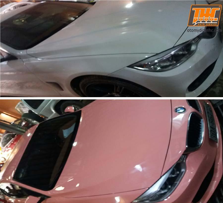 Sơn đổi màu xe BMW 420i, màu hồng Rolls Royce độc nhất vô nhị