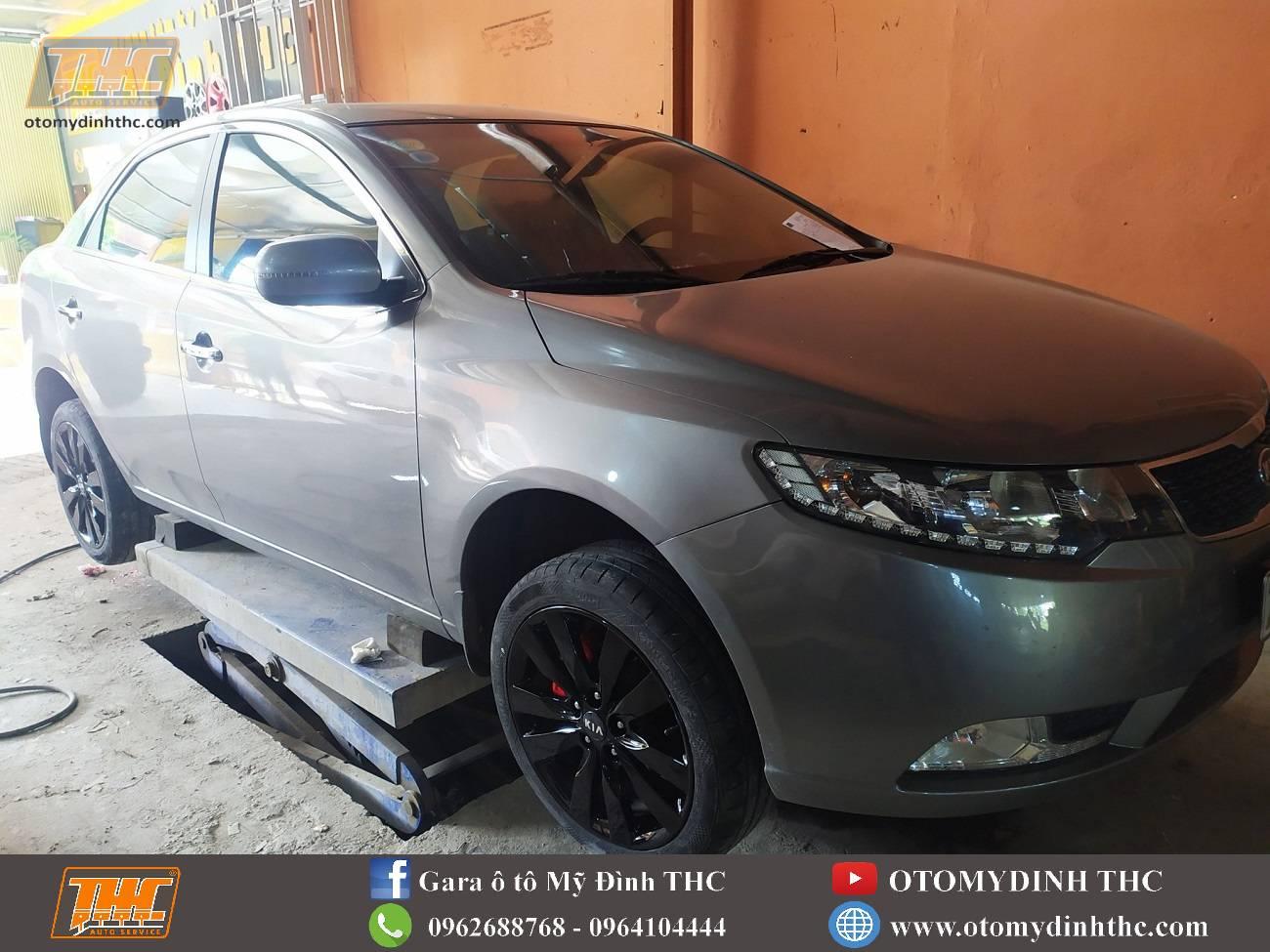 Sơn lazang- mâm xe cho xe Kia Forte