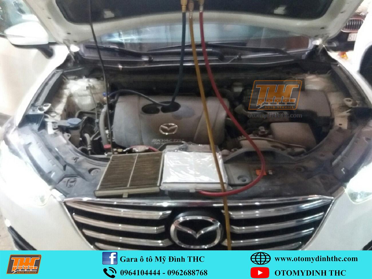 Sửa chữa bảo dưỡng hệ thống điều hòa xe Mazda CX5 tại Trung Tâm Kỹ Thuật Ô Tô Mỹ Đình THC