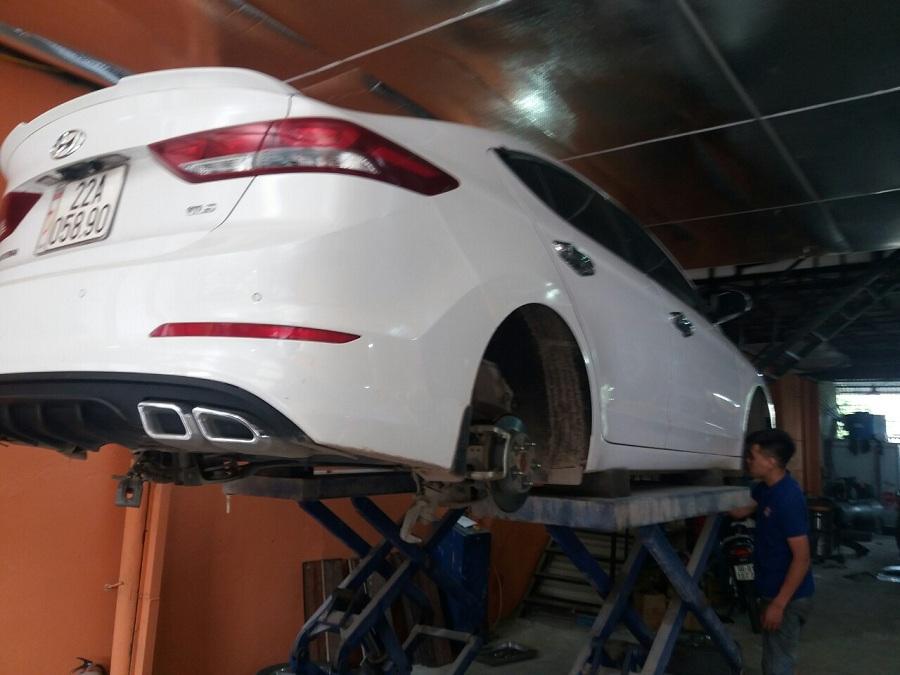 Tư vấn sơn phủ gầm xe ô tô Hyundai Accent mới